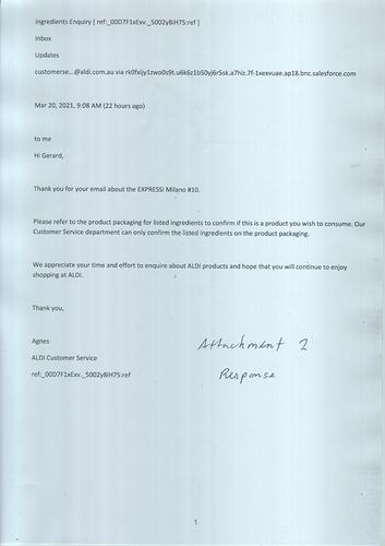 Response from ALDI