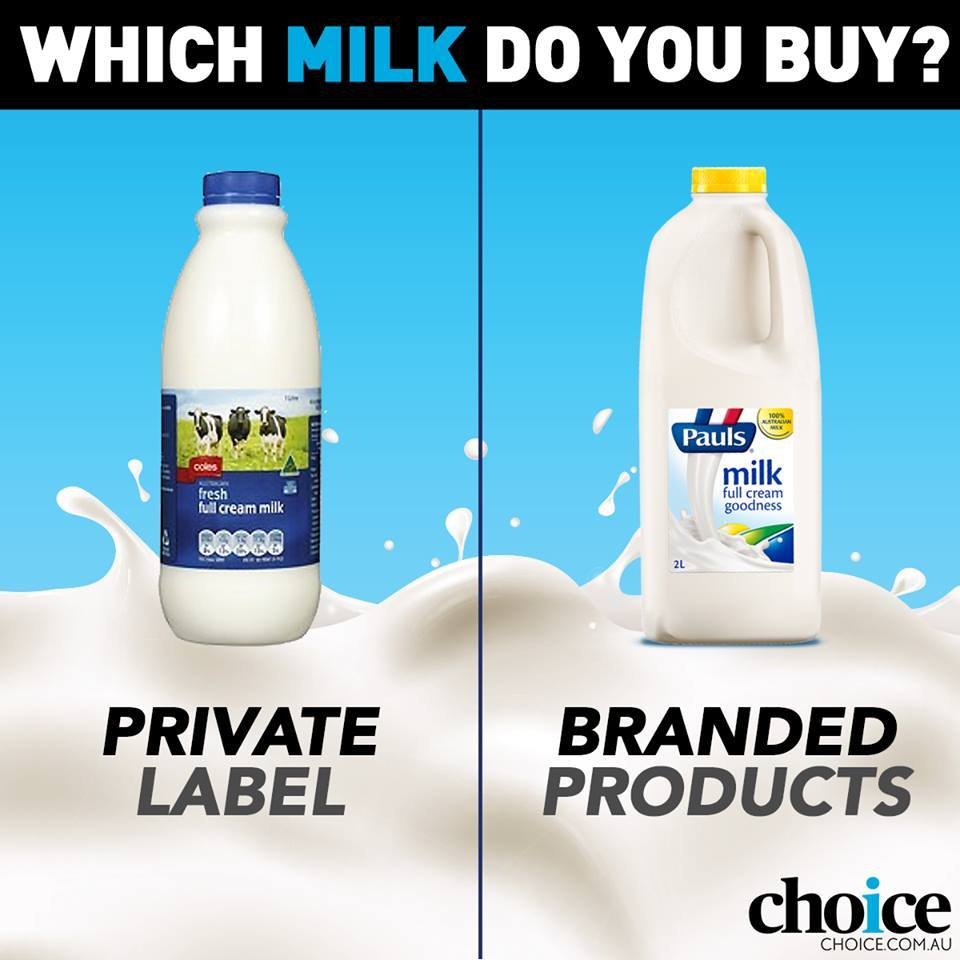 do you buy branded milk from the supermarket to support
